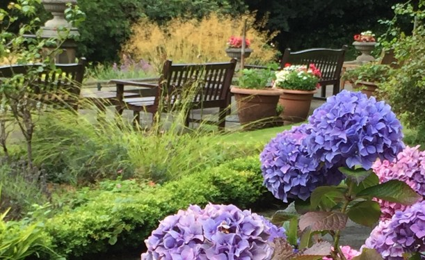 A beautiful place to rest in Bickham House gardens
